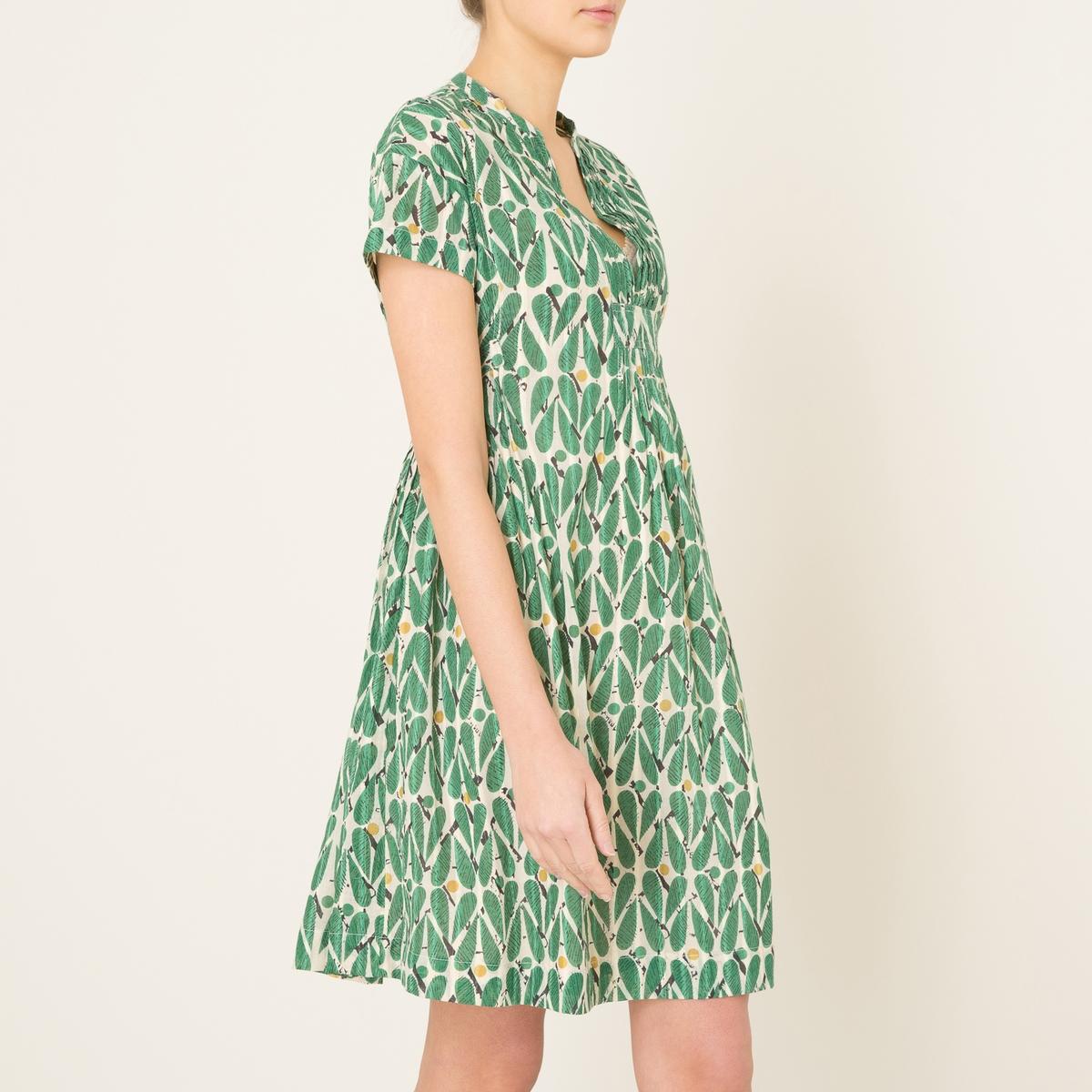 Платье короткое с рисункомСостав и описание Материал : 100% хлопокМарка : STELLA FOREST<br><br>Цвет: зеленый
