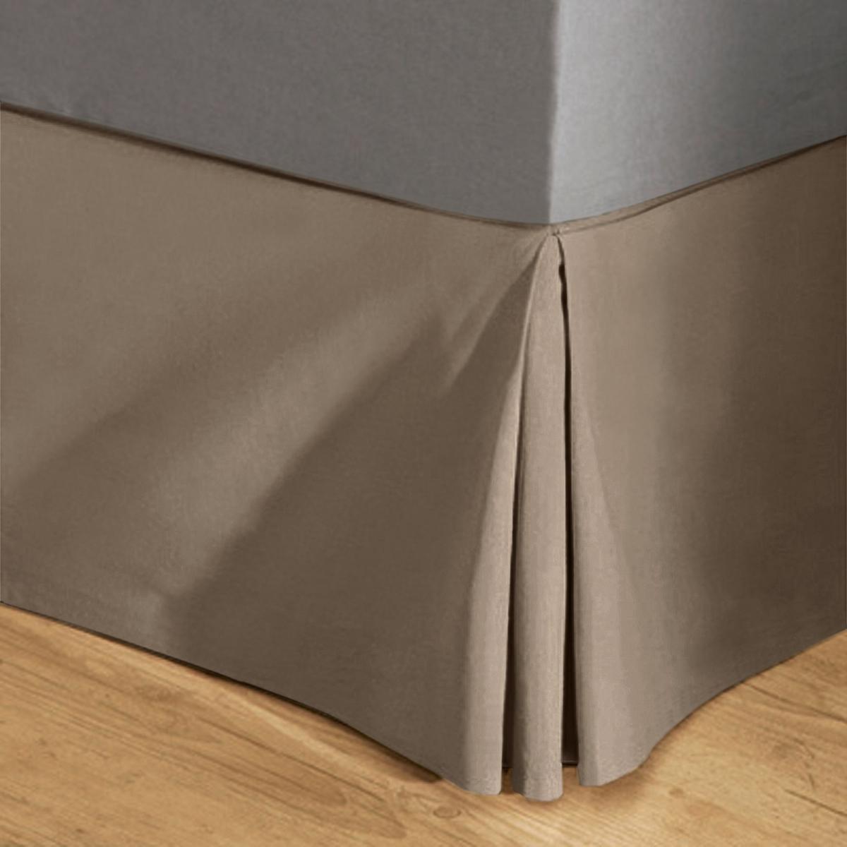 цена на Чехол La Redoute На основу под матрас из поликоттона 120 x 190 см каштановый
