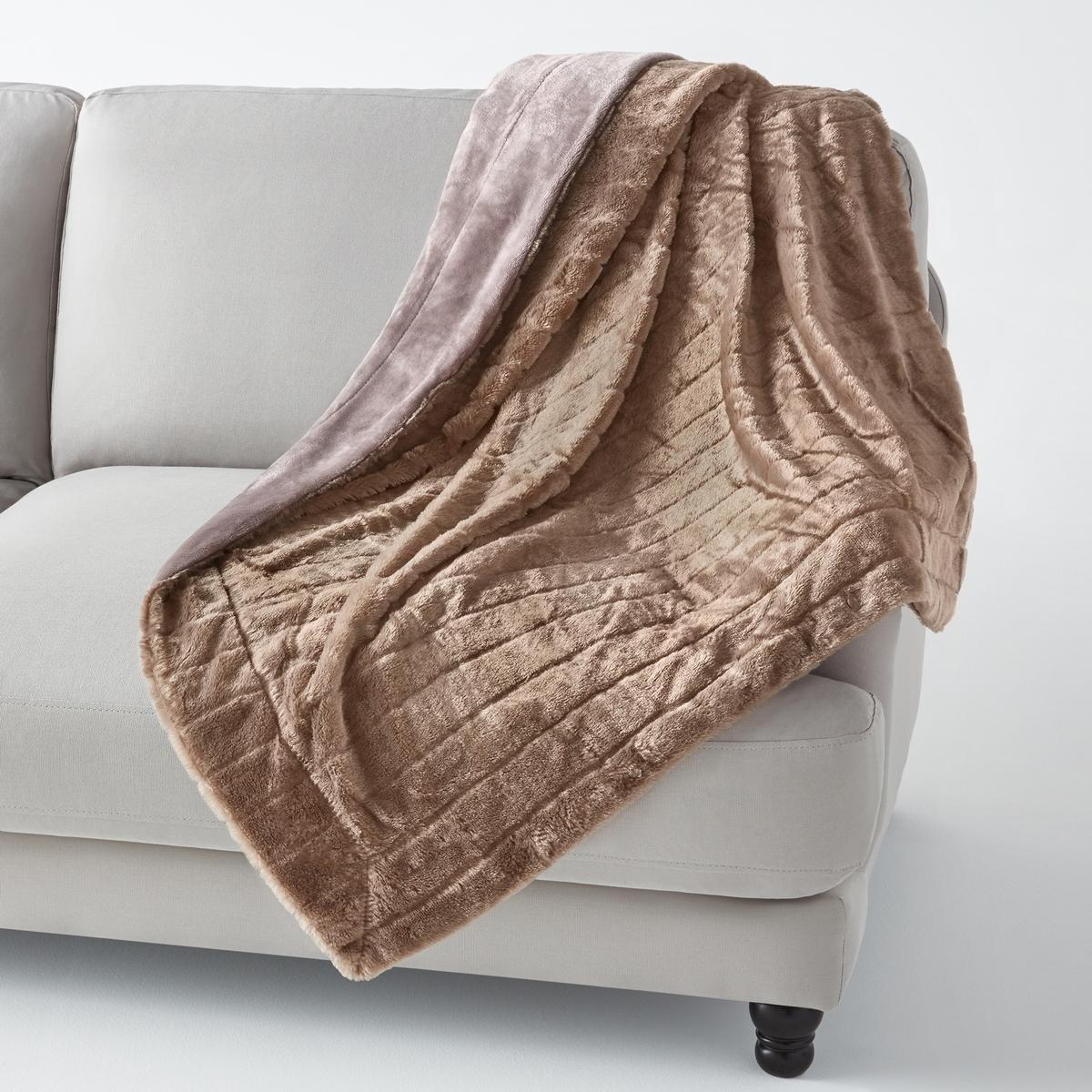 Плед из искусственного меха, VelfurНасладитесь мягкостью и теплом этого пледа из искусственного меха, который украсит диван в гостиной и согреет Вас зимним вечером. Плед из искусственного меха Velfur для комфорта и мягкости контакта .Состав пледа из искусственного меха Velfur  :100% полиэстера . Изнаночная сторона из велюра, 100% полиэстера.Размеры пледа из искусственного меха : 130 х 170 см.<br><br>Цвет: серо-коричневый<br>Размер: 130 x 170 см