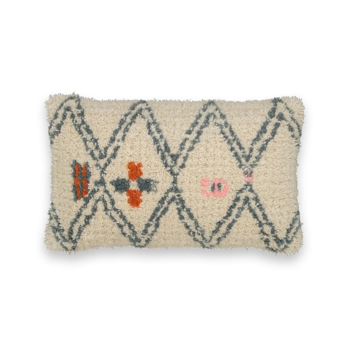Чехол на подушку-валик в берберском стиле, LindiyaОписание:Чехол на подушку-валик в берберском стиле Lindiya .Характеристики :   •  90% шерсти, 10% хлопка .  Размер : •  50 x 30 см.<br><br>Цвет: разноцветный
