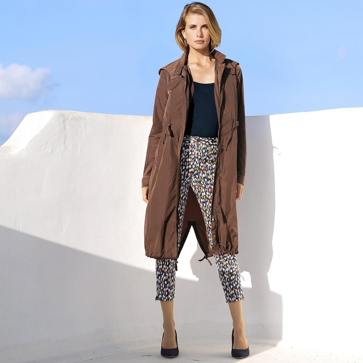 Imagen adicional de producto de Pantalón recto tobillero de satén de algodón stretch - Anne weyburn