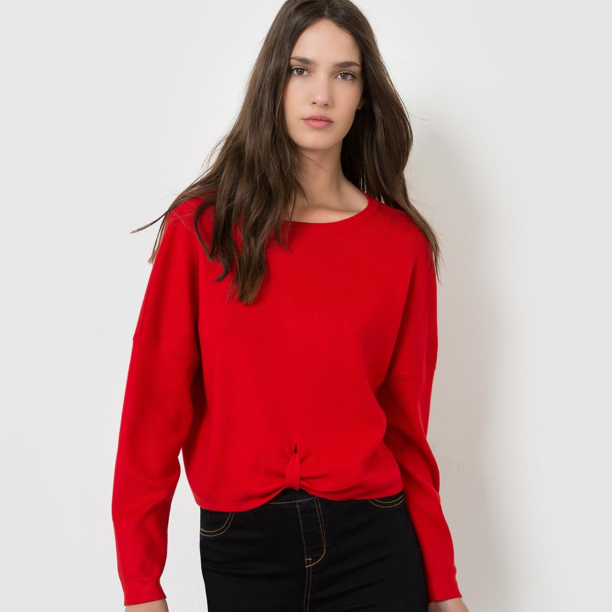 Пуловер на завязке с расклешенными рукавамиСостав и описаниеМарка : MOLLY BRACKENМатериал : 90% хлопка, 10% эластанаУходМашинная стирка при 30 °CСтирать с вещами схожих цветов<br><br>Цвет: красный,черный