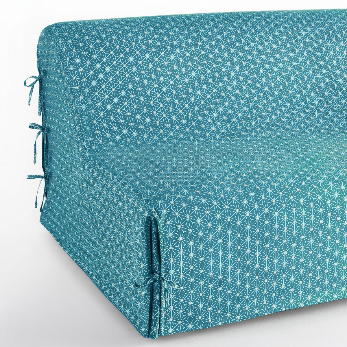 Чехол на раскладной диван с рисунком, LozangeХарактеристики чехла :Материал : брезентовая ткань, 100% хлопок Отделка : крепление на узелкиУход : Машинная стирка при 40 °С. Водоотталкивающая пропитка и против пятен. Размеры чехла :Имеется в 2 размерах по ширине : 140 и 160 см.Уход :Следуйте рекомендациям по уходу, указанным на этикетке изделия. Знак Oeko-Tex® гарантирует, что товары прошли проверку и были изготовлены без применения вредных для здоровья человека веществ.<br><br>Цвет: желтый/ белый,серый/ белый,сине-зеленый/белый<br>Размер: 140 cm.160 cm