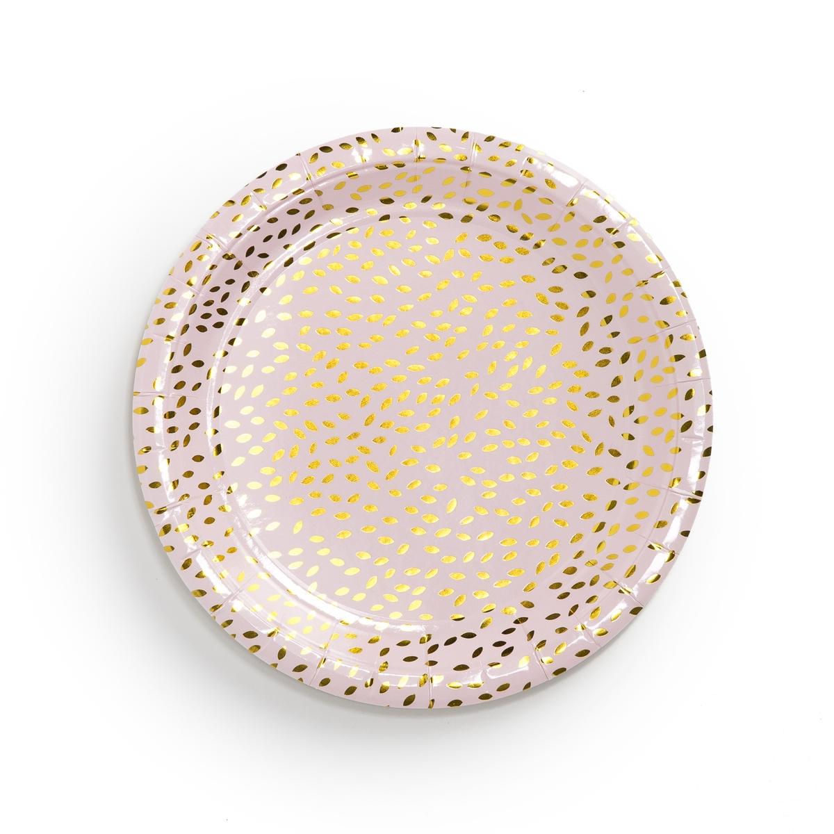 Тарелки картонные с рисунком F?LIA (8 шт.)Описание:Комплект из 8 тарелок из картона La Redoute Interieurs : праздничный рисунок для радостных и душевным моментов.Характеристики 8 тарелок: •  Картон •  Одноразовые тарелки •  Розового цвета с золотистым рисункомРазмеры 8 тарелок: •  Диаметр: 23 смВсю коллекцию столового декора вы найдете на сайте laredoute.<br><br>Цвет: рисунок золотистый