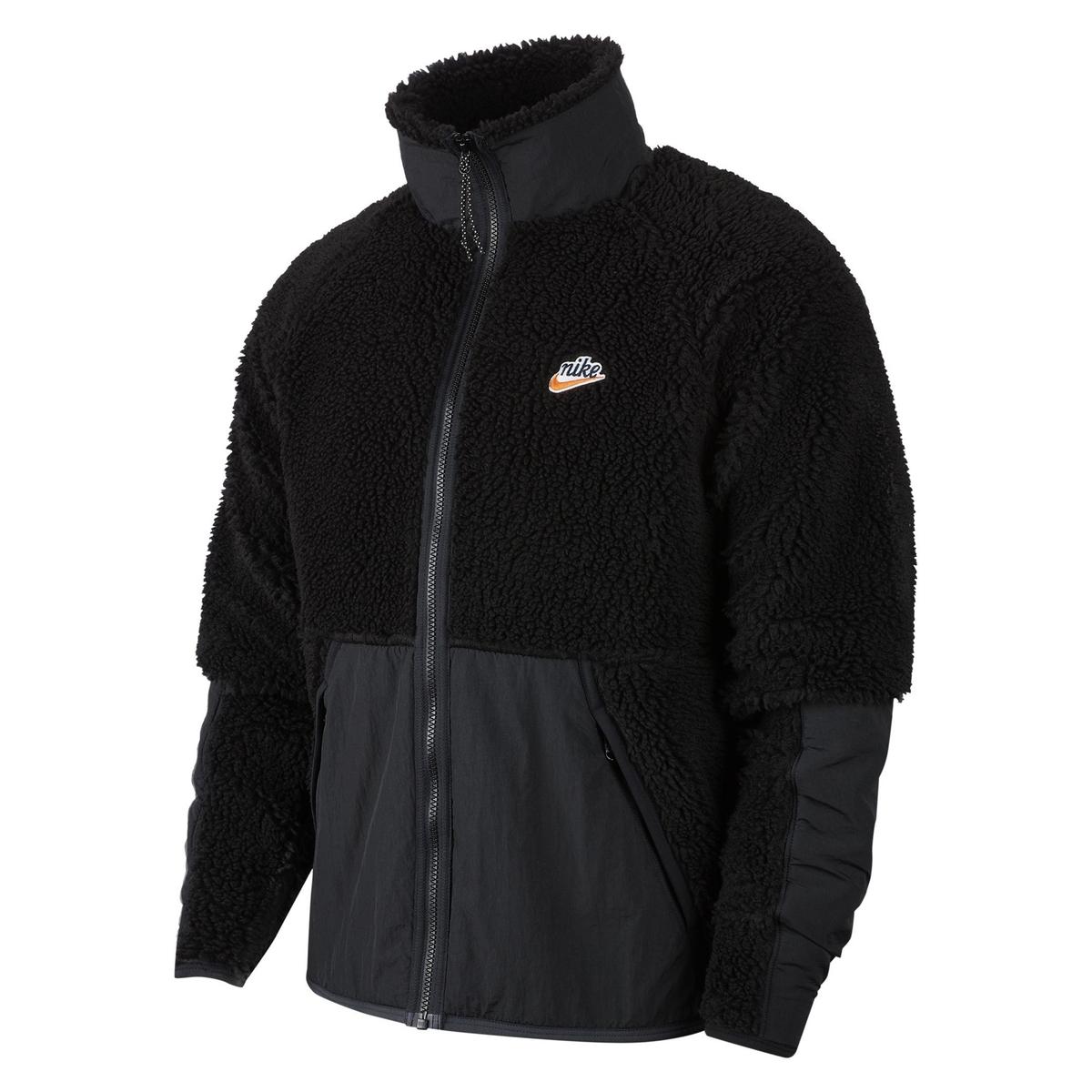 Sudadera de cuello alto con cremallera sherpa
