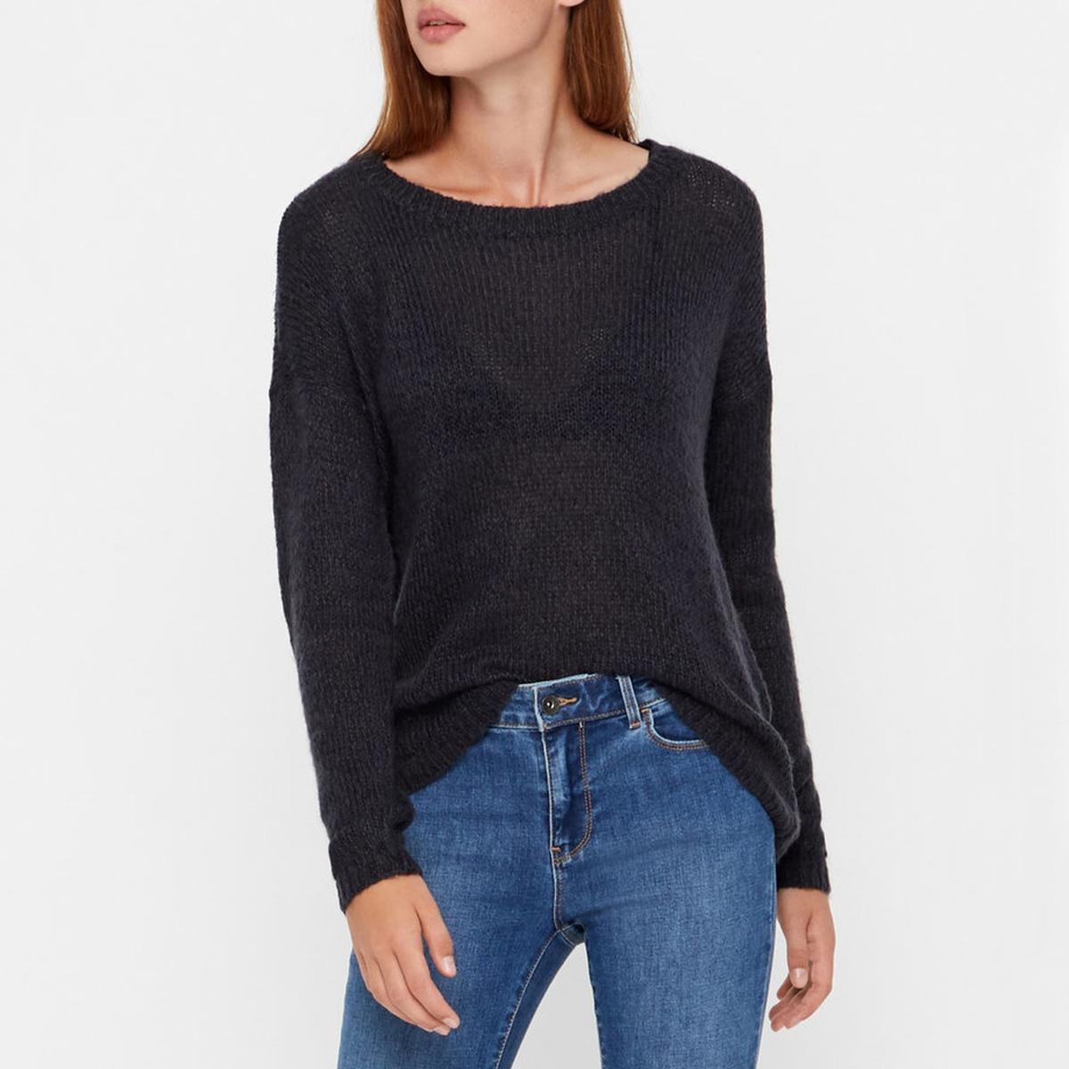 Пуловер с вырезом-лодочкой из тонкого трикотажа цены онлайн