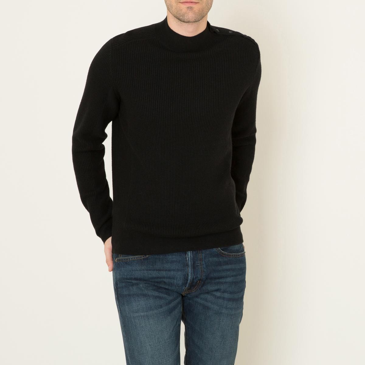Пуловер с застежкой на пуговицы