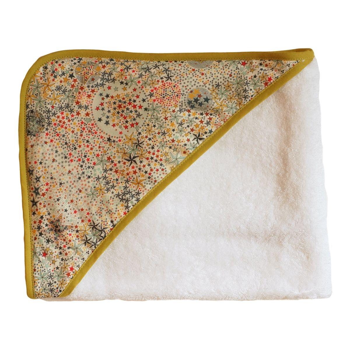 Cape de bain éponge bébé liberty étoiles multicolores