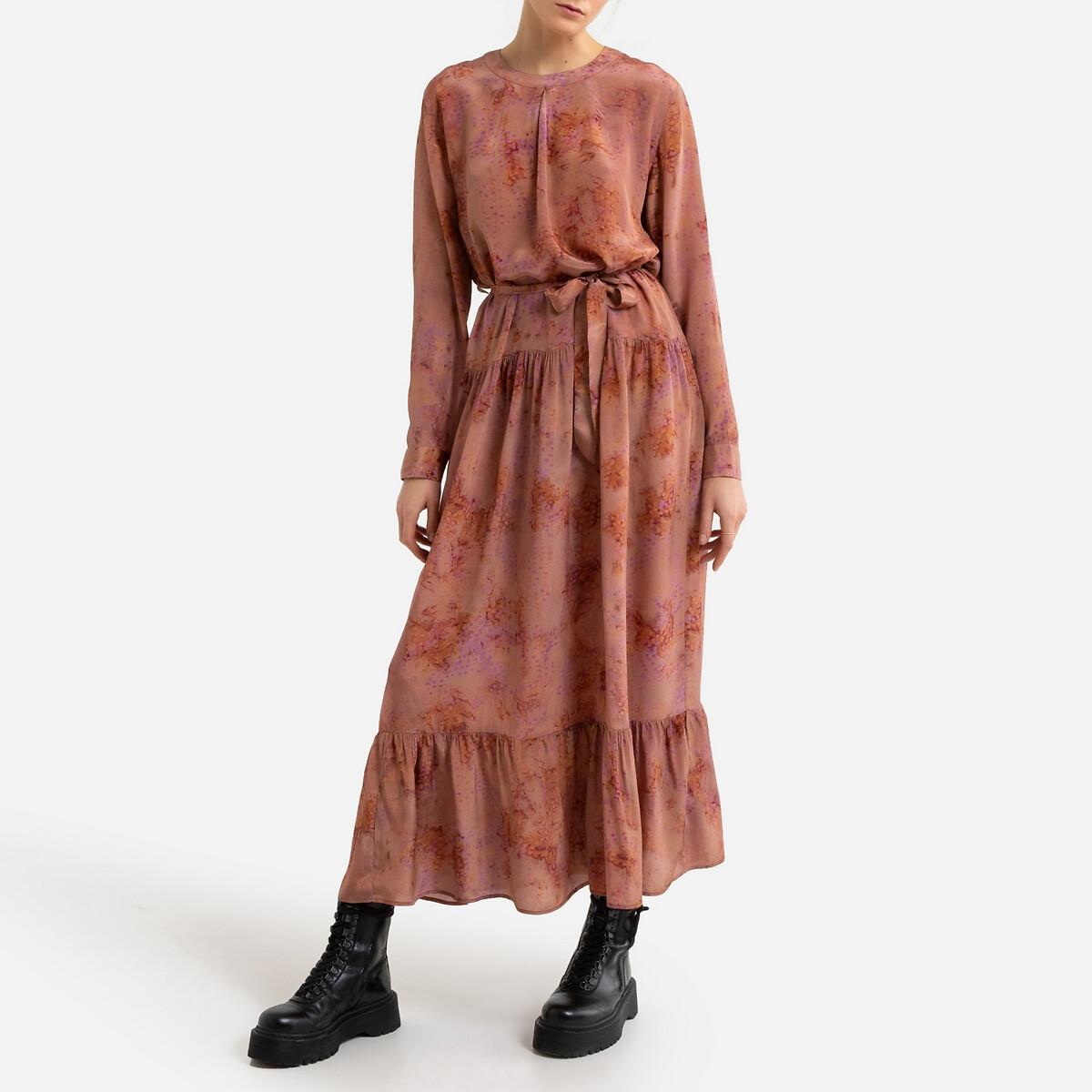 Платье LaRedoute Длинное SEPTEMBER 40 (FR) - 46 (RUS) розовый
