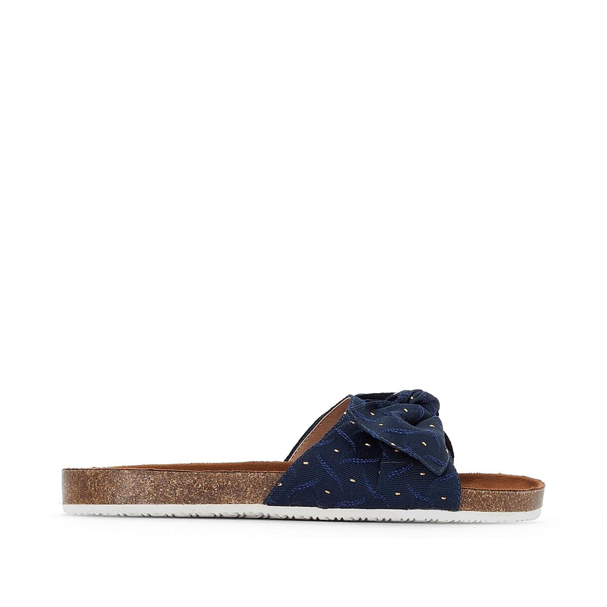 Туфли без задника с рисунком на плоском каблуке 38-45