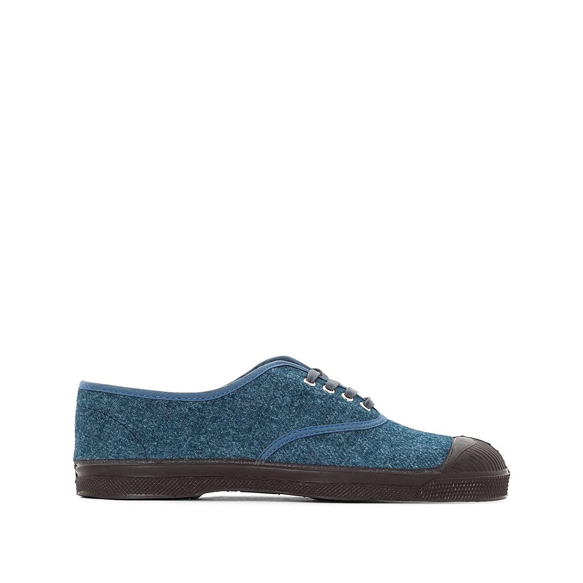 Кеды Wool VintageОписание:Детали  •  Спортивный стиль •  Плоский каблук •  Застежка : шнуровка.Состав и уход  • Верх/Голенище 100% шерсть    •  Подкладка 100% текстиль •  Подошва 100% каучук<br><br>Цвет: синий