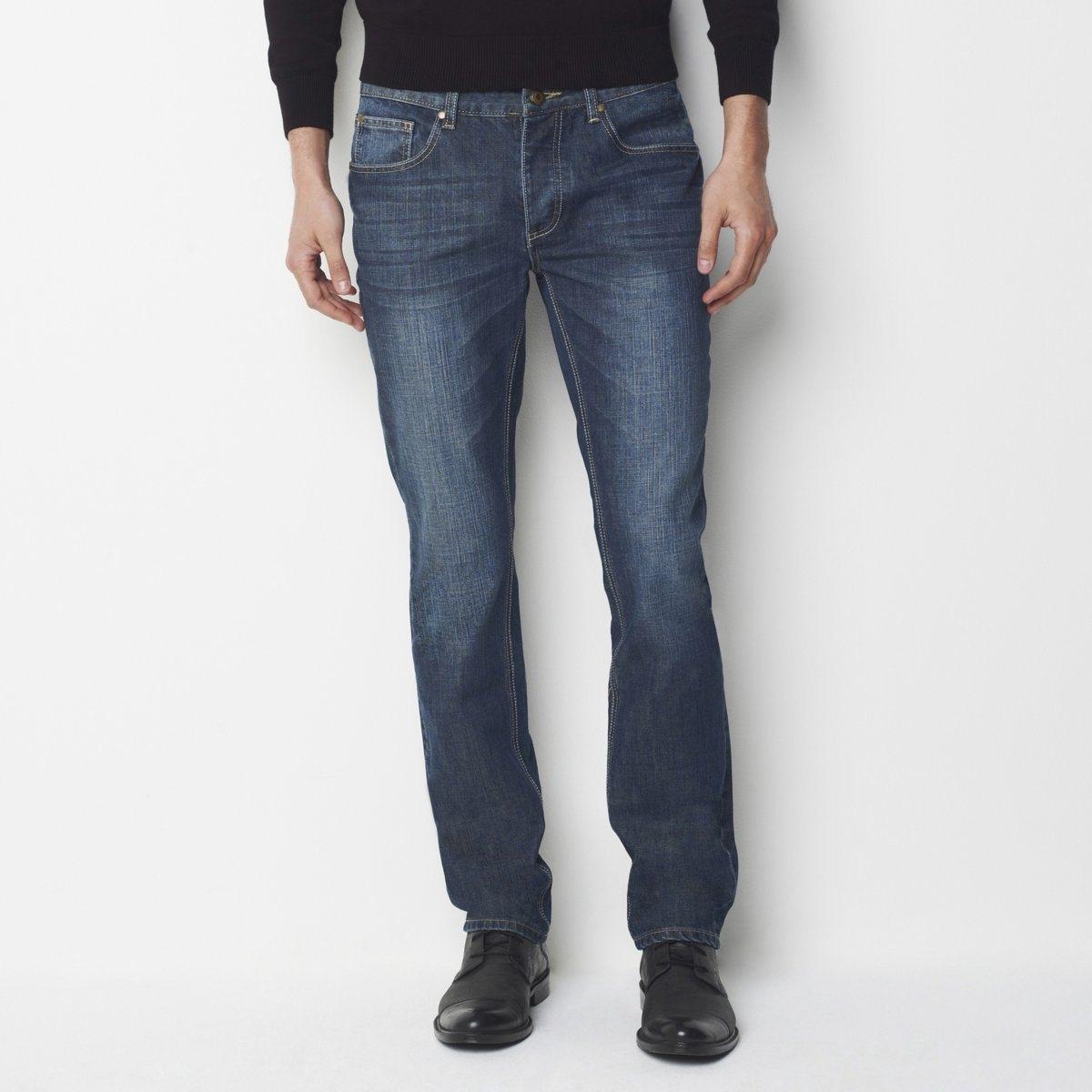 Straight-Fit-Jeans| Länge 34 | Bekleidung > Jeans > Straight Leg Jeans | Grau | Jeans - Denim | La Redoute Collections