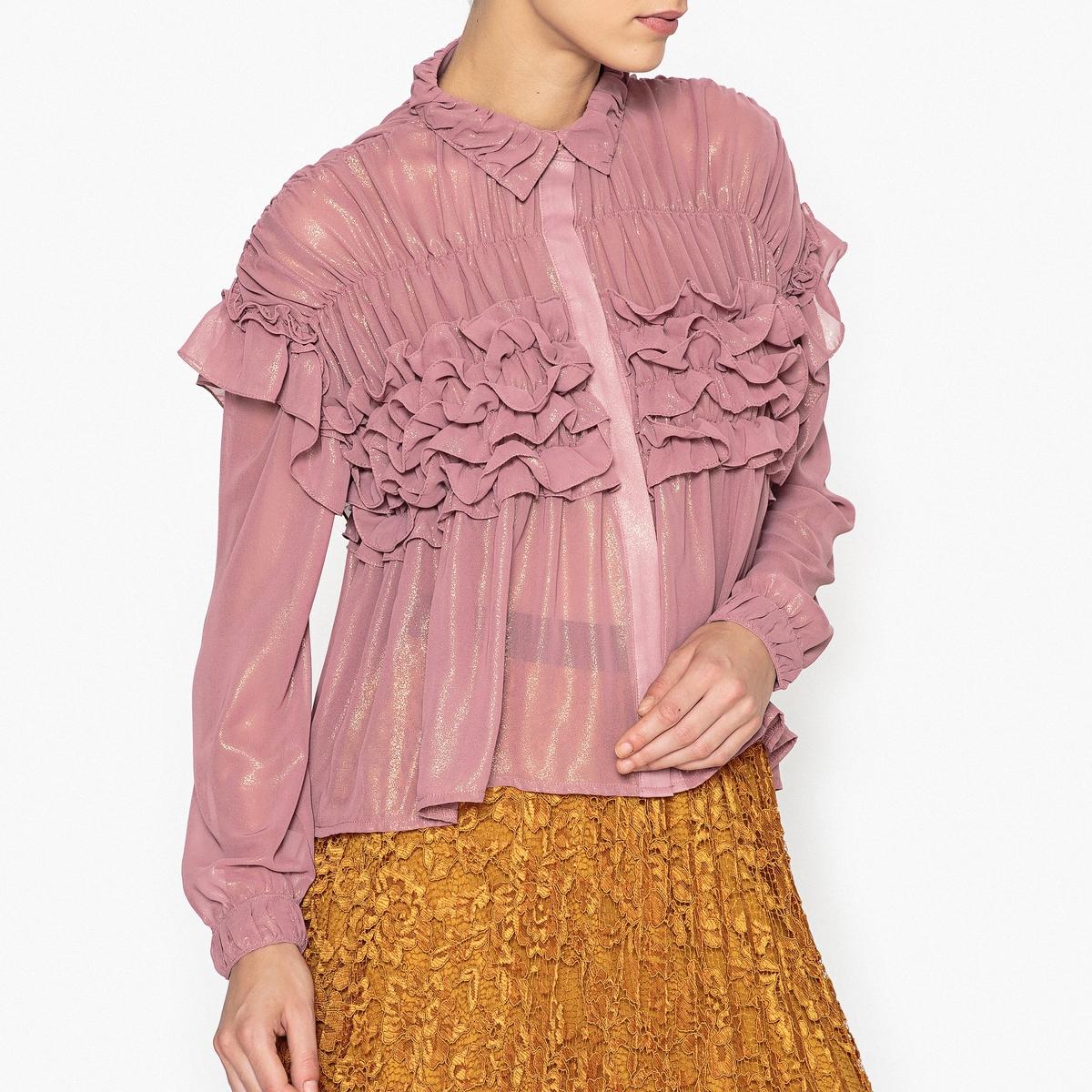 Рубашка объемная с воланами