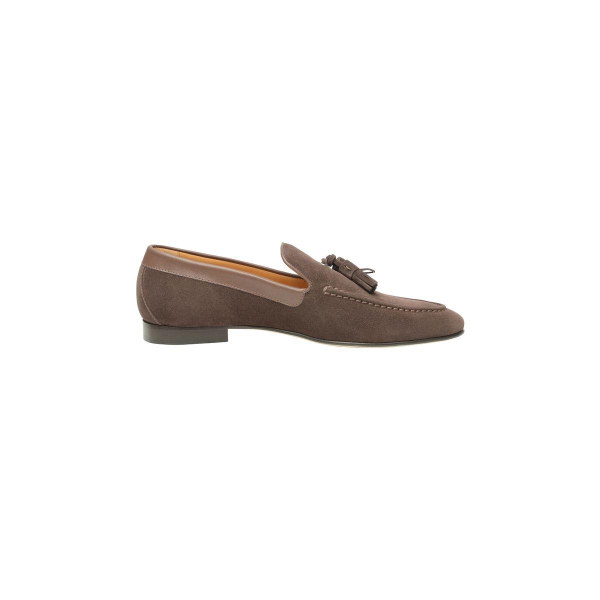 Loafer en velours marron foncé