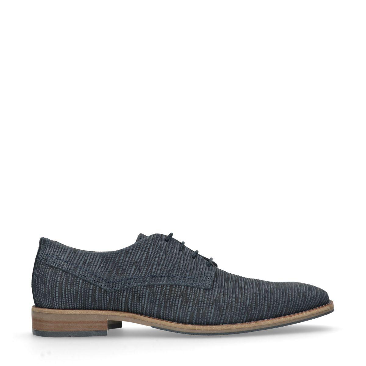 Chaussures à lacets en cuir avec motif