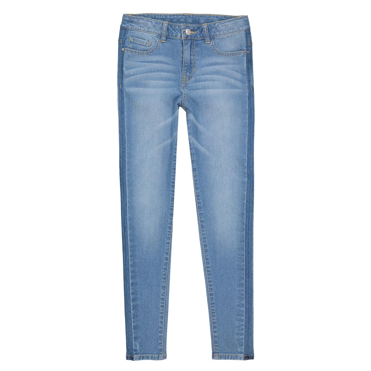 Jeans skinny banda laterale 10-16 anni