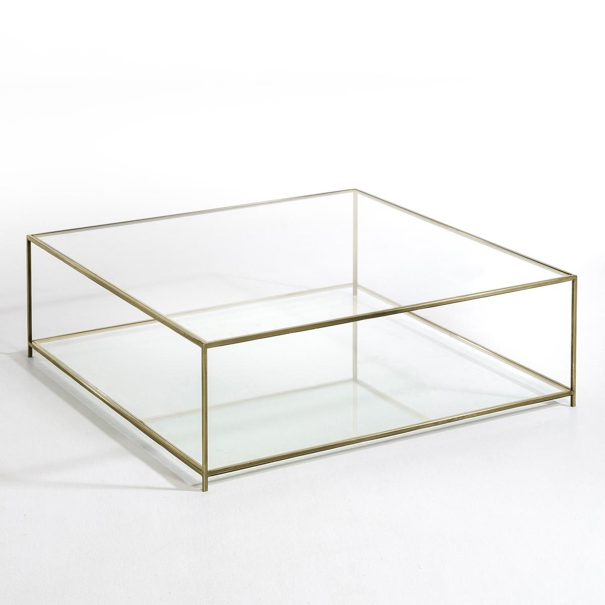 Стол журнальный квадратный из закаленного стекла, Sybil