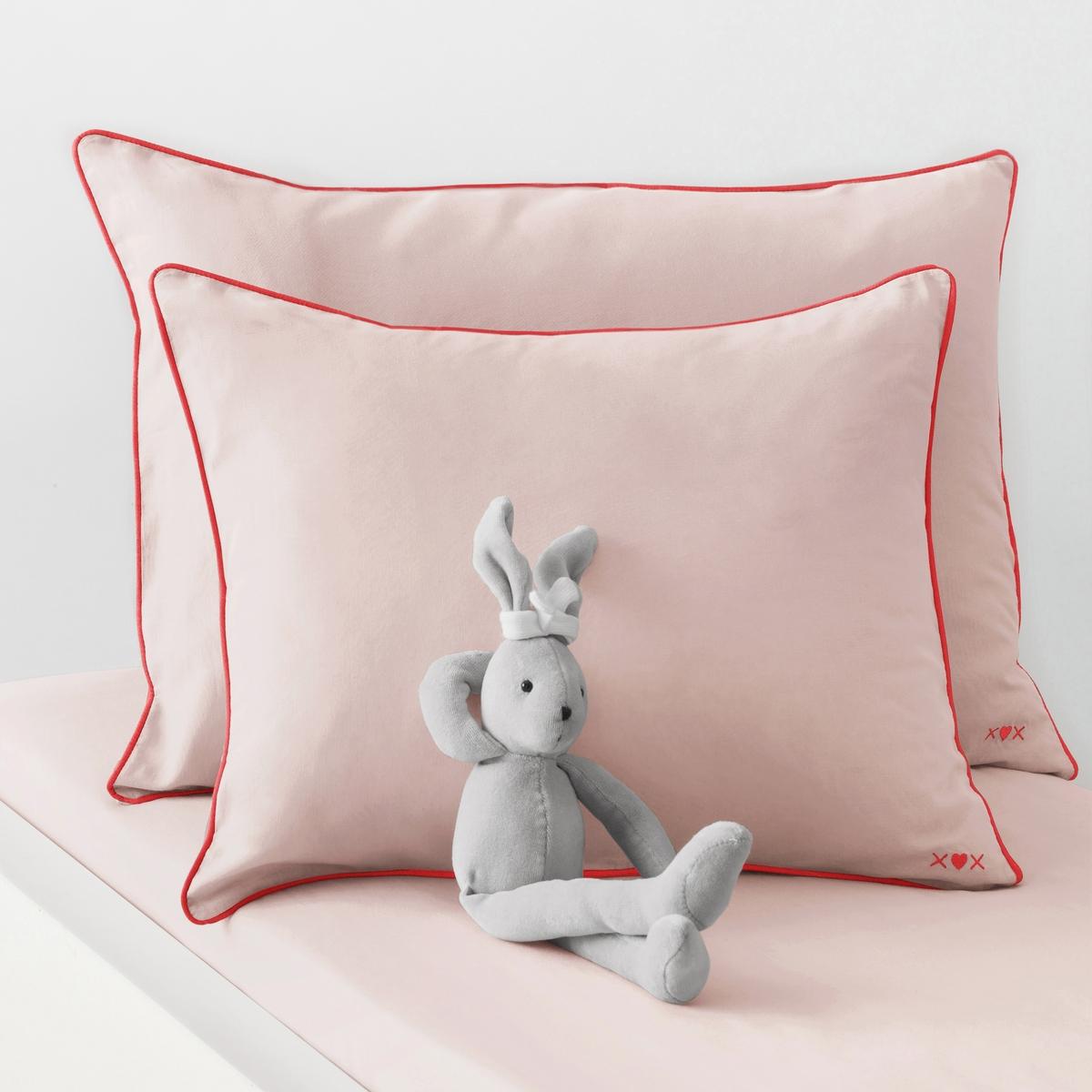 Наволочка La Redoute Детская однотонная из хлопка 40 x 60 см розовый наволочка детская из хлопка melusine
