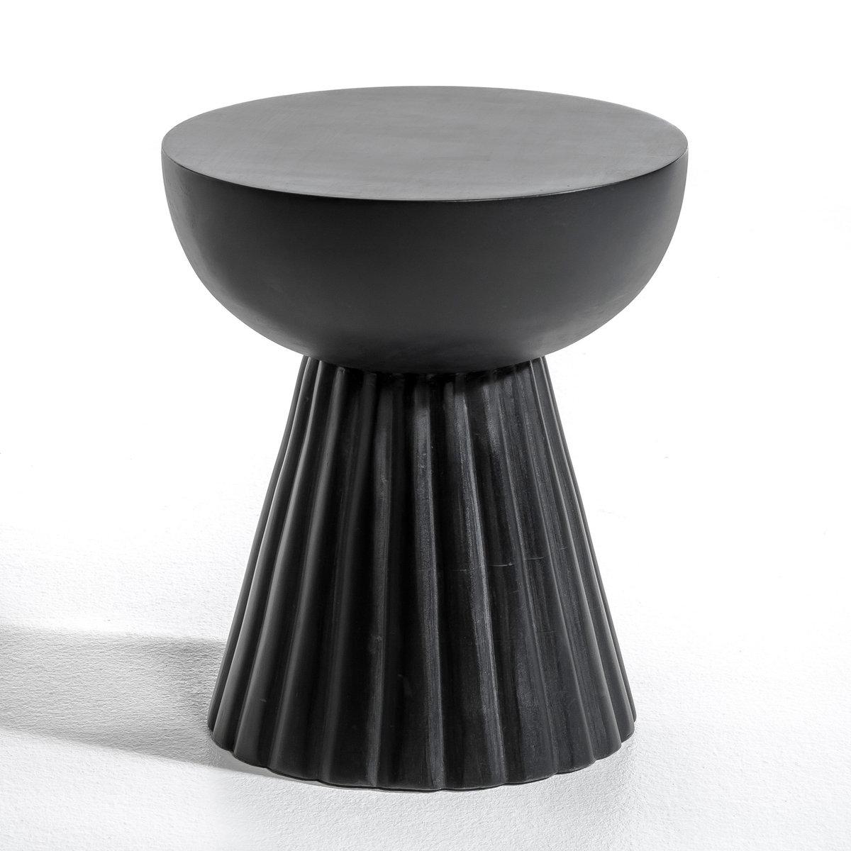 Столик, DonatoОписание : - Из массива мангового дерева черного цвета Размеры : - ?30 x 35 см<br><br>Цвет: черный