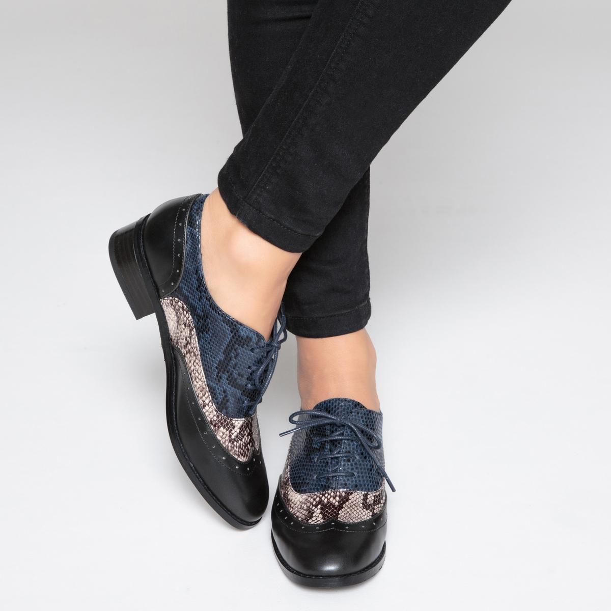 Ботинки-дерби под кожу питона ботинки дерби под кожу питона