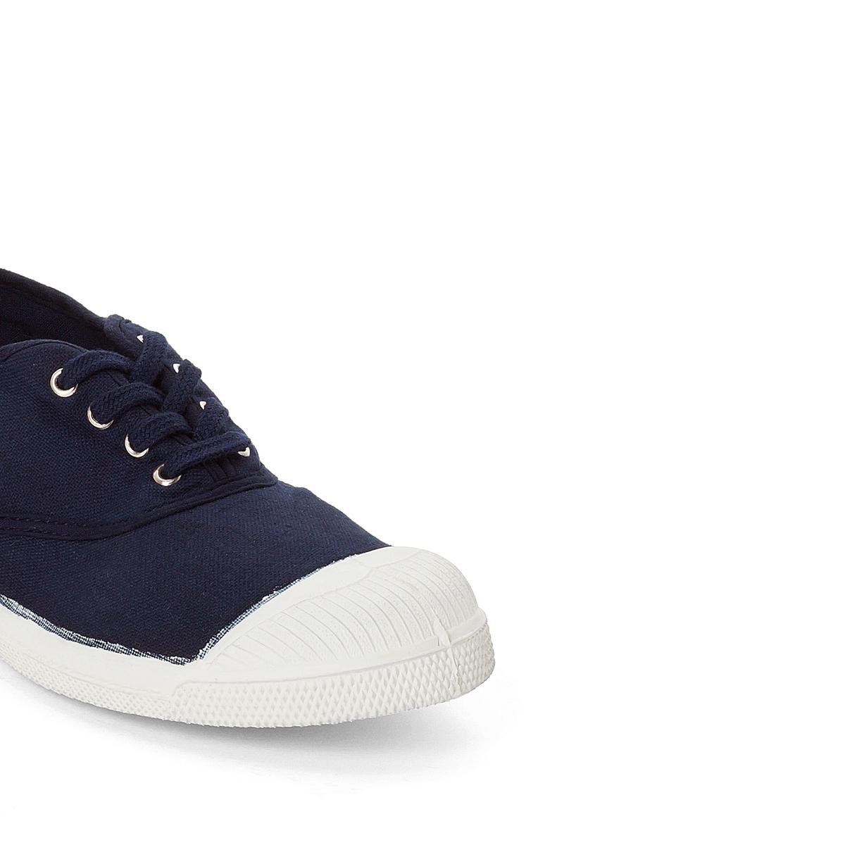 Кеды базового гардероба на шнуровкеДетали   •  Спортивный стиль •  Плоский каблук •  Застежка : шнуровкаСостав и уход   •  Верх 100% текстиль •  Подкладка 100% текстиль •  Подошва 100% каучук<br><br>Цвет: темно-синий<br>Размер: 38
