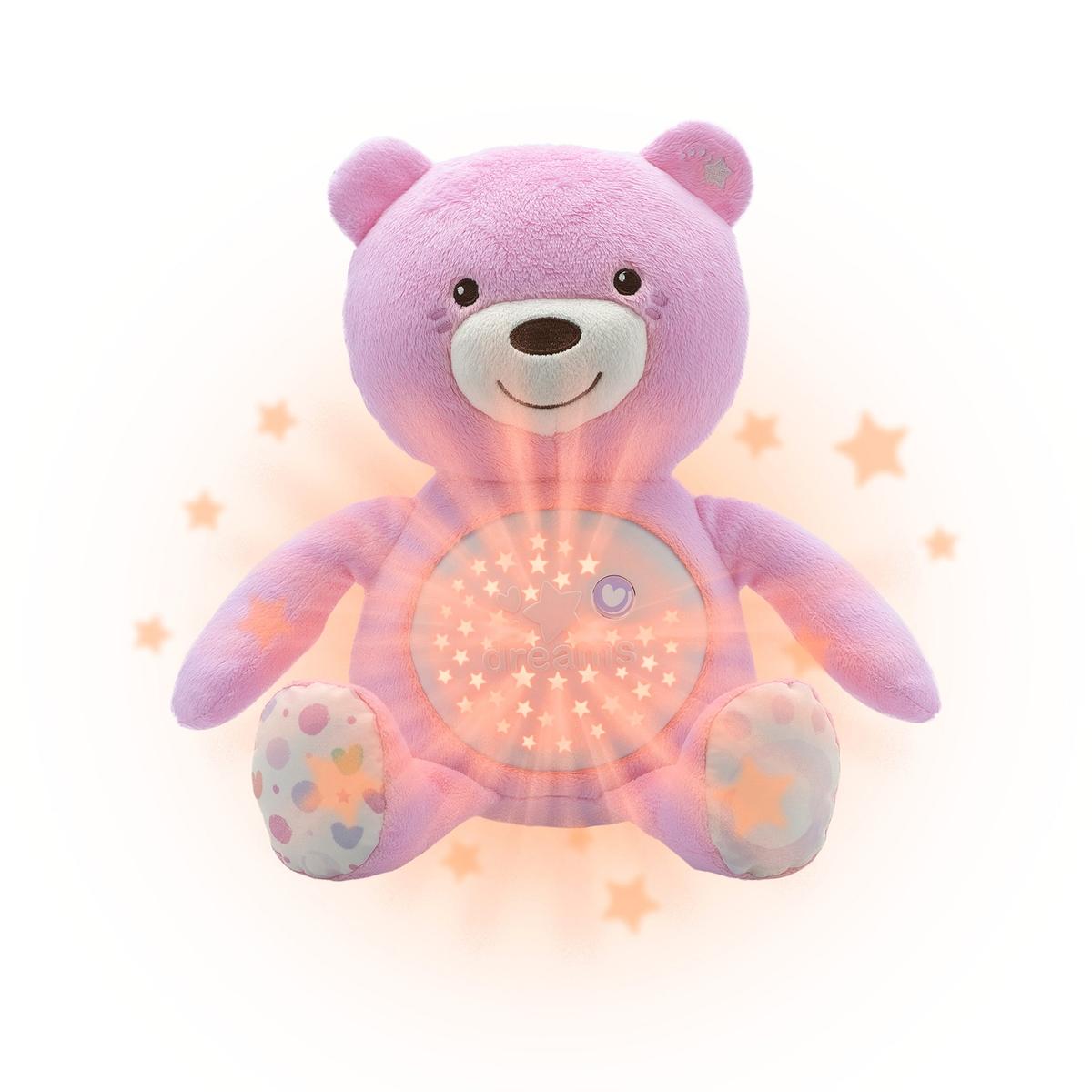 Orso proiettore Baby Bear, rosa