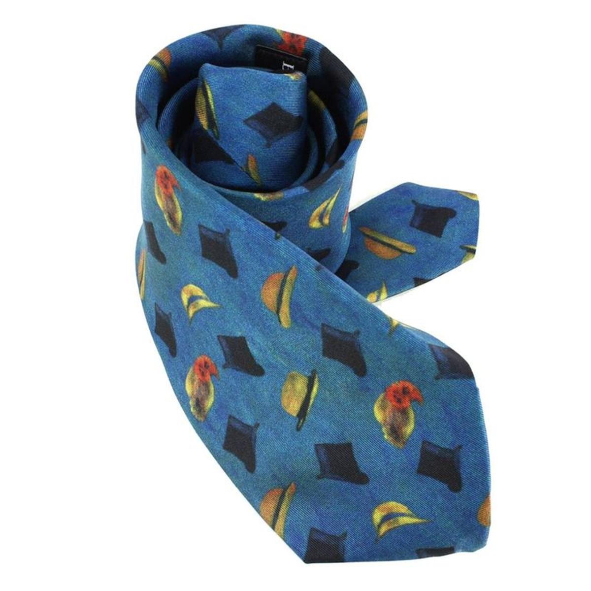 Cravate Lyonnaise  en soie  RENOIR CANOTIERS, Made in France