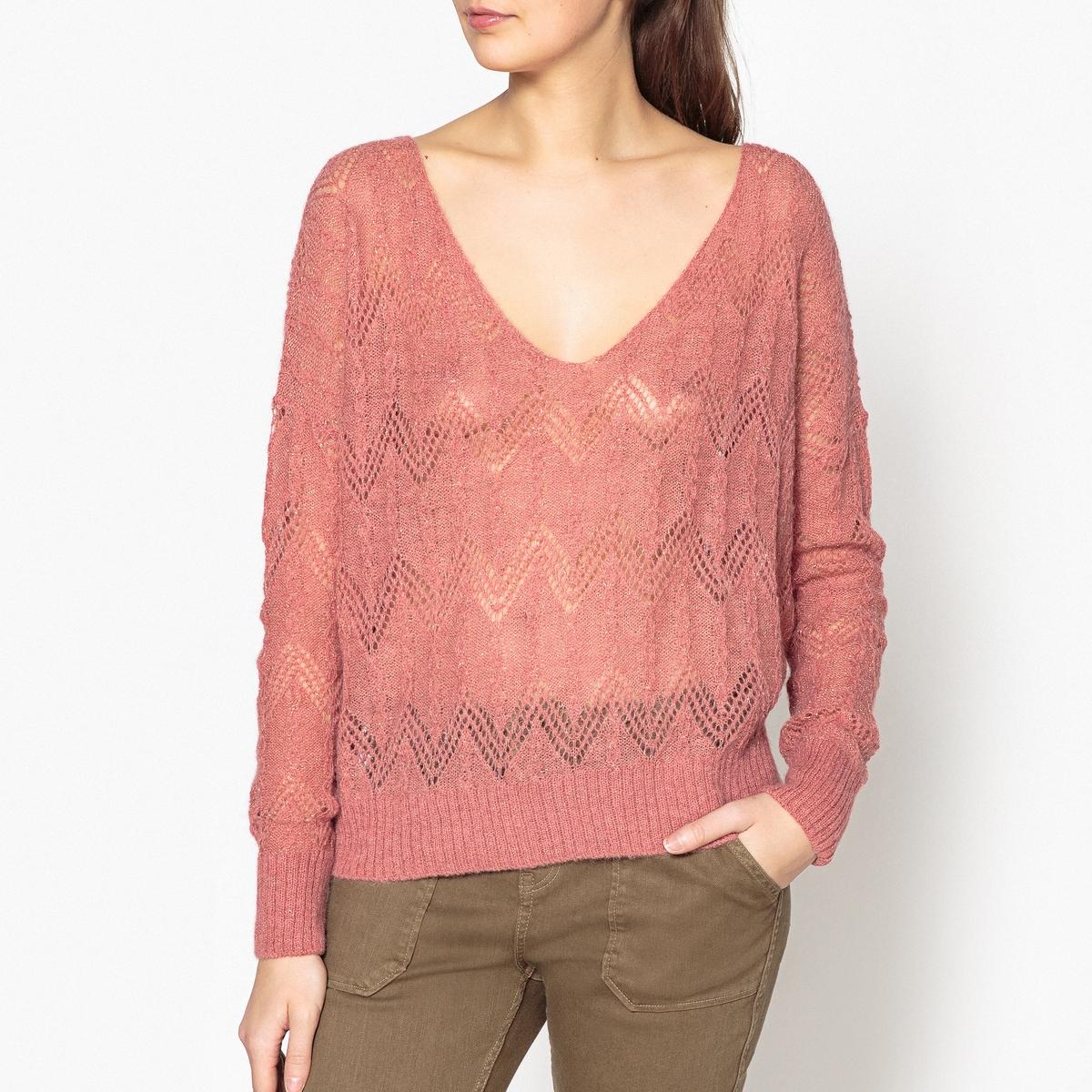 Пуловер объемного покроя с V-образным вырезом NOPALES от LEON and HARPER