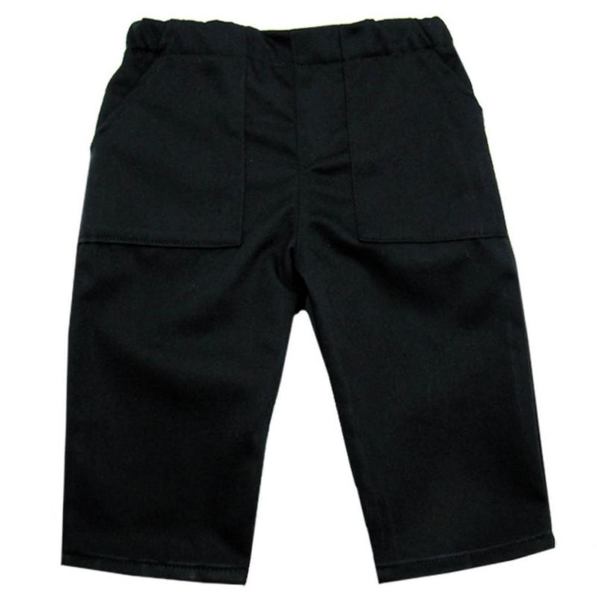 Pantalon uni deux poches 0 mois-10 ans Made in france