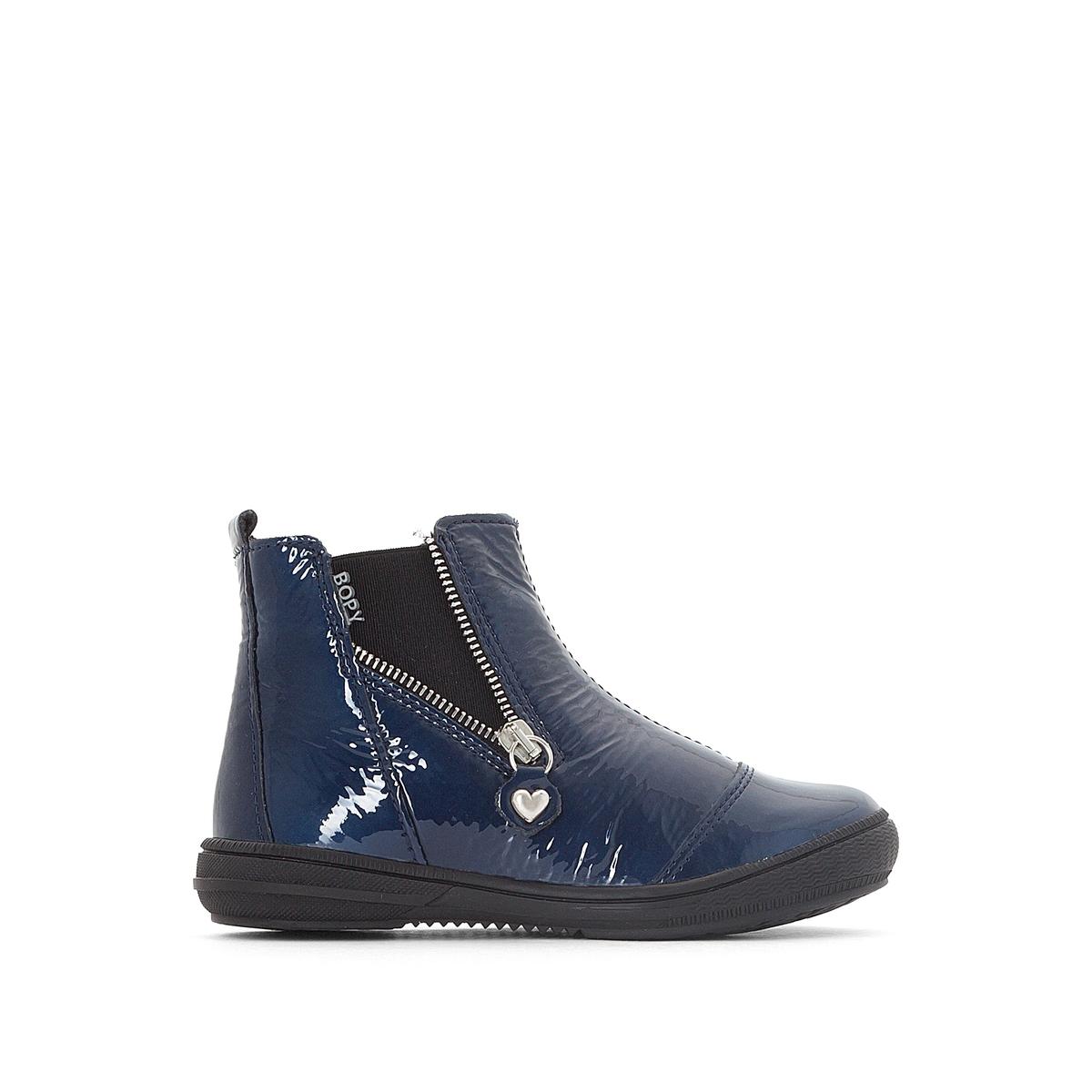 Ботинки-челси лакированные Shanel