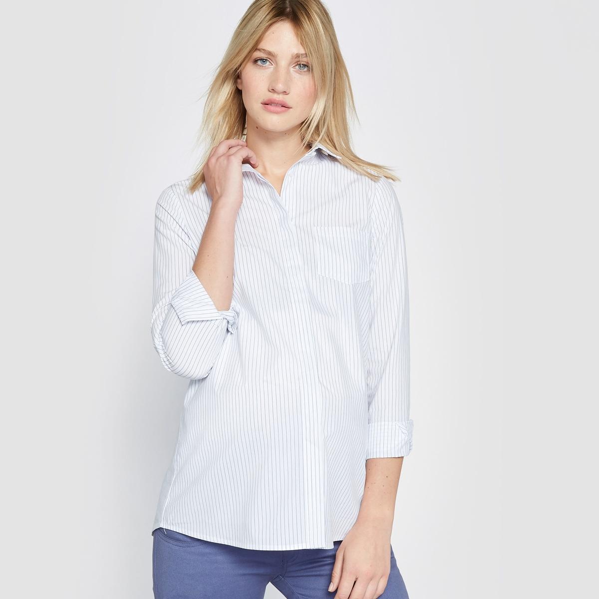 Рубашка для периода беременности с принтом в горошек от La Redoute