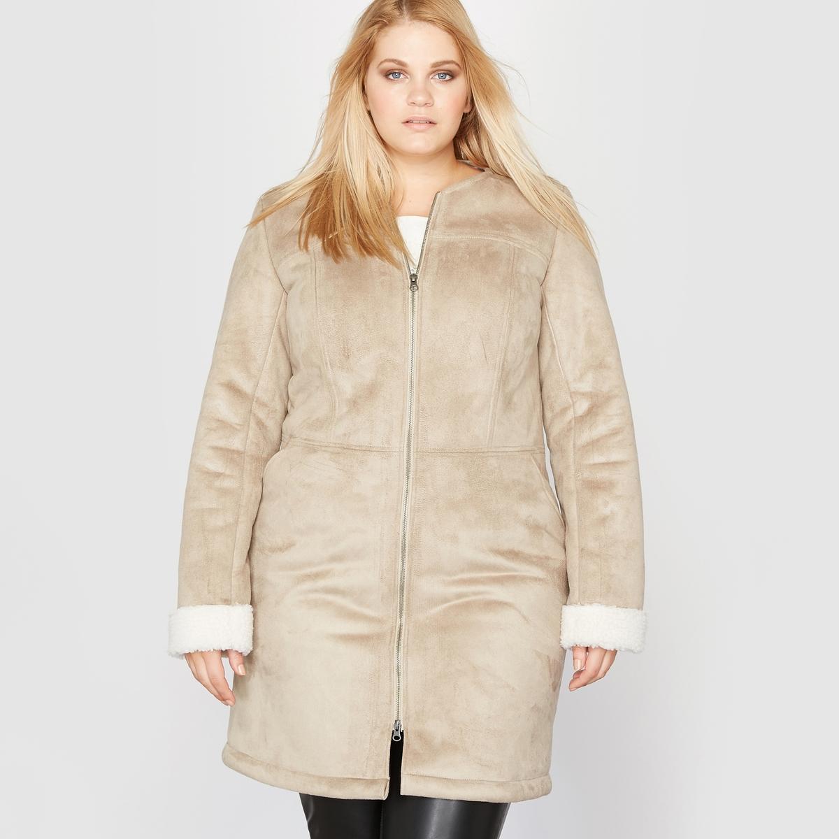 Пальто из искусственной овечьей шкуры