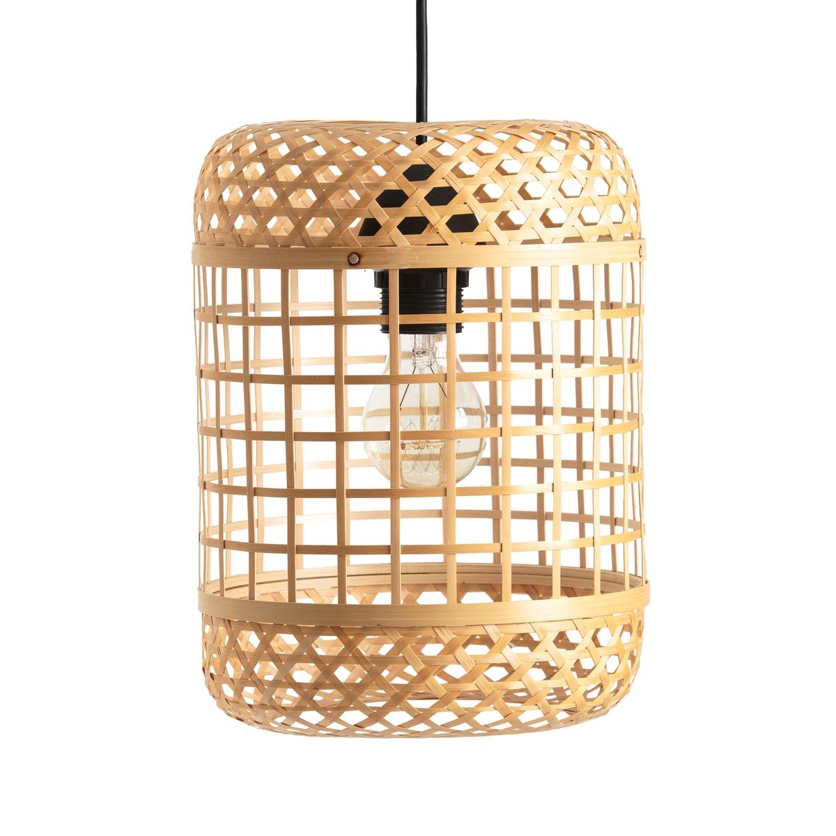 Светильник из натурального бамбука, H28 см, CORDOСветильник из натурального бамбука Cordo. Светильник Cordo с 2 различными плетеными узорами очень естественно рассеивает свет. Неэлектрифицированный.Характеристики светильника Cordo : Светильник из натурального бамбука, сплетенный вручную.Подходит для патрона E27   .Этот товар не электрифицирован, электрические провода Baulind продаются на сайте laredoute.ru.Всю коллекцию светильников Cordo Вы найдете на laredoute.ru.Размеры светильника Cordo :Диаметр : 21 см.Высота : 28 см<br><br>Цвет: серо-бежевый
