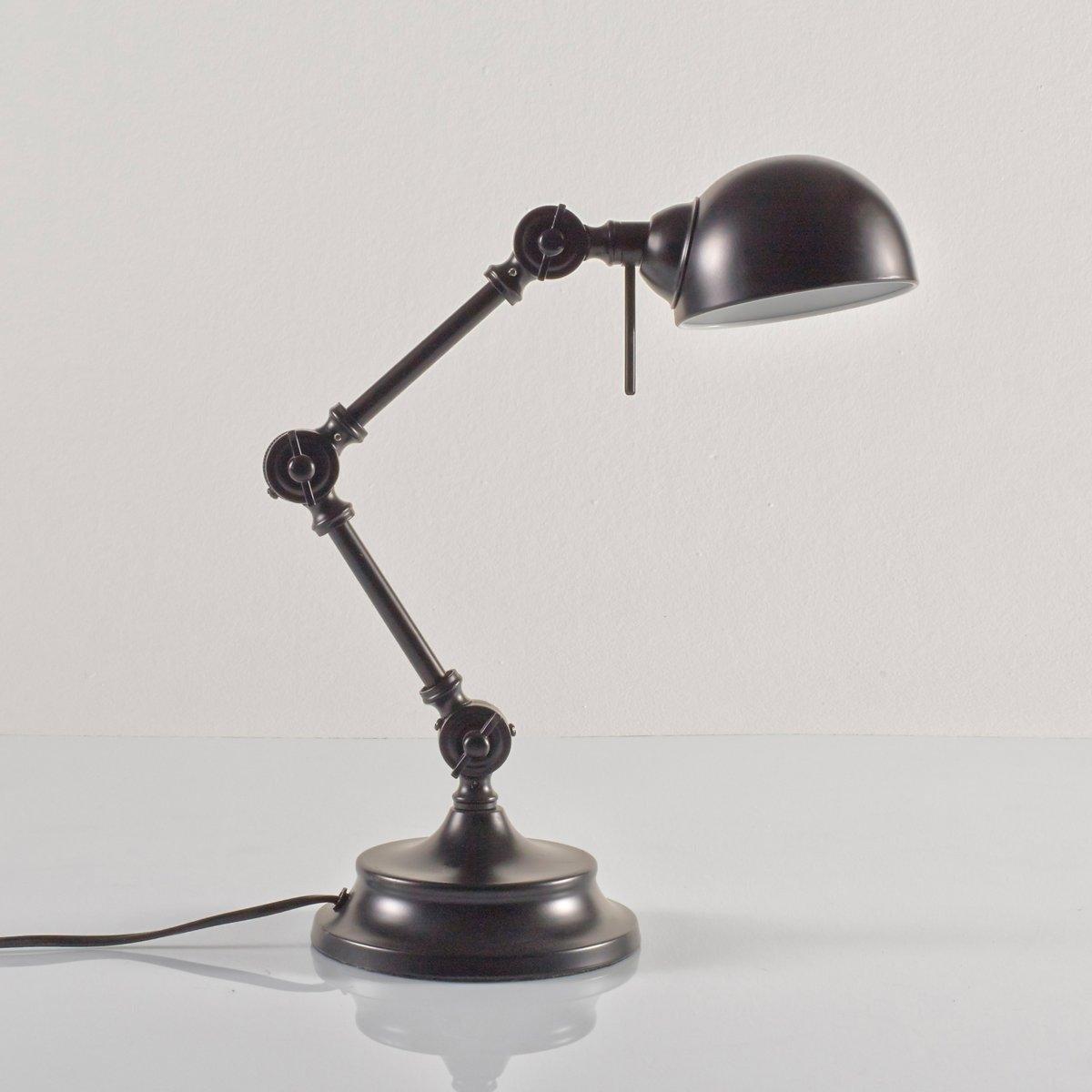 Лампа настольная из металла в промышленном стиле, KikanНастольная лампа немного в стиле ретро, Kikan. Описание настольной лампы из металла в промышленном стиле Kikan :Раздвижной кронштейн из 3 регулируемых шарниров. Патрон E14 для компактной флуоресцентной лампы макс. 7 Вт (продается отдельно). Настольная лампа из металла в промышленном стиле совместима с лампами класса энергопотребления : A.  Характеристики настольной лампы из металла в промышленном стиле Kikan :Из металлаХромированное покрытие черного цвета или цвета синий деним. Всю коллекцию светильников вы можете найти на сайте laredoute.ru.  Размеры настольной лампы из металла в промышленном стиле Kikan :Подставка :Диаметр : 16 смАбажур : Диаметр : 11,5 смОбщие размеры :Высота : 40 см.<br><br>Цвет: серо-зеленый,черный