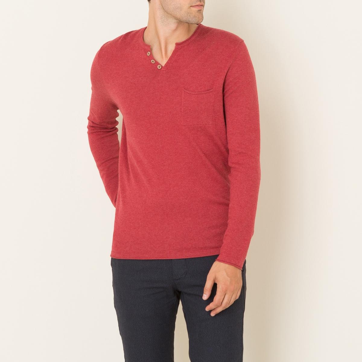 Пуловер SANCHOПуловер HARRIS WILSON - модель SANCHO. Тунисский ворот. Декоративные пуговицы. 1 нагрудный карман с подвернутыми краями. Длинные рукава. Прямой покрой. Состав и описание Материал : 92% хлопка, 8% кашемираМарка : HARRIS WILSON<br><br>Цвет: красный,серый