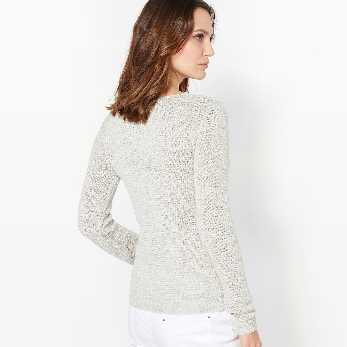 Пуловер из трикотажа с узором косы