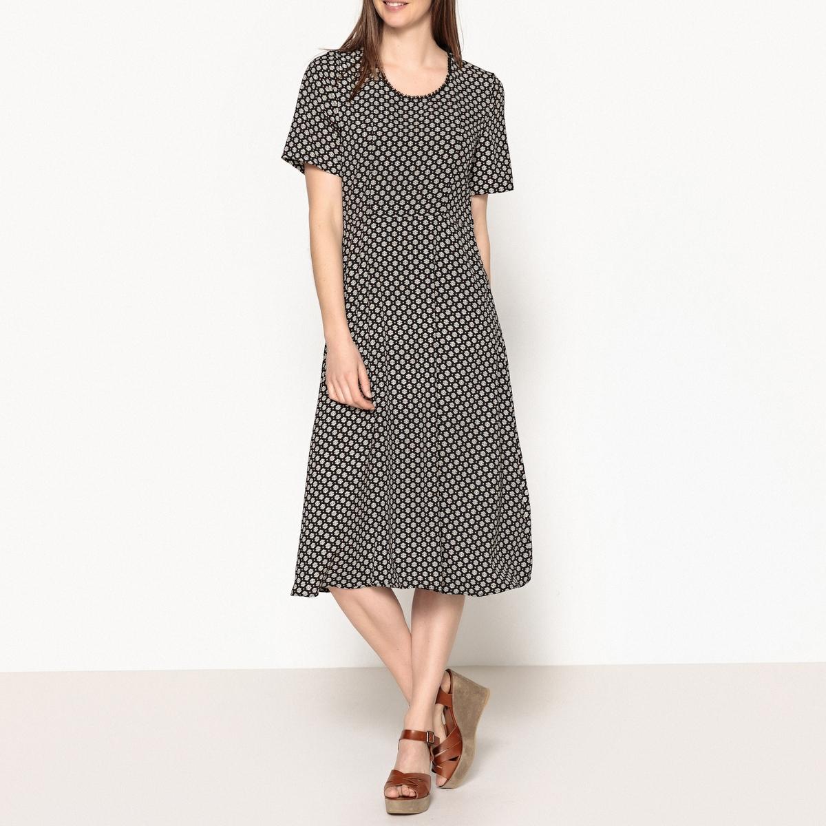 Платье-миди с принтом и короткими рукавами JOPLIN PLUS LONG free shipping new fashion brand men s long wallets clutches 100