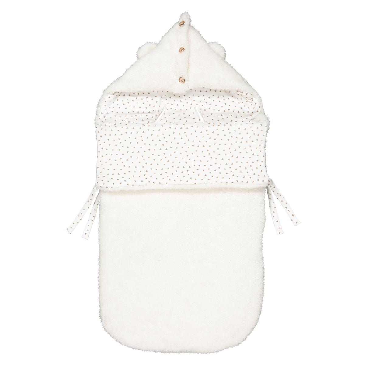 Конверт La Redoute Для новорожденного с эффектом плюшевой ткани единый размер бежевый полотенце la redoute для рук из махровой ткани хлопок с люверсом единый размер бежевый