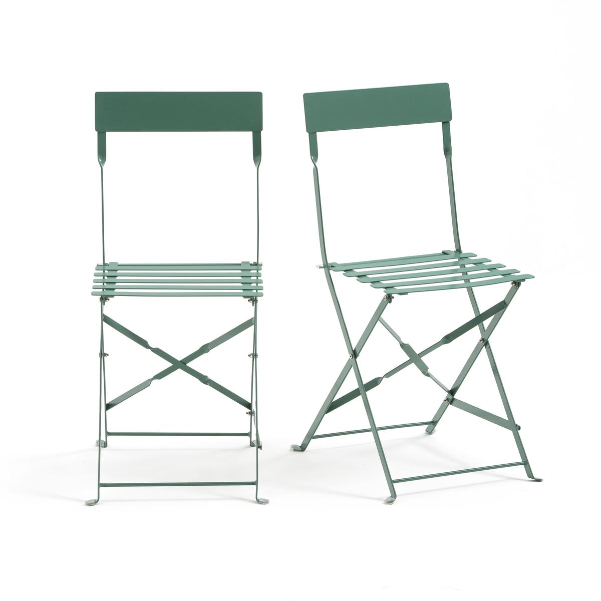 Стул складной металлический, OZEVAN (2 шт.)2 складных металлических стула Ozevan. Добавьте ярких красок ! На террасе, кухне или в гостиной эти складные стулья сделают более динамичной вашу обстановку...Характеристики складного стула из металла :- Из металла с цветным лаковым покрытием.- Эпоксидное покрытие.- Дощатое сиденье.Стулья доставляются в собранном виде.                                             Размеры :- Общие : 38 x 83 x 45 см .                                                                                    В комплекте 2 стула одного цвета   .                                                                                                                                          Идея для декора :Не бойтесь смешивать разные цвета. Это будет выглядеть очень стильно и весело ! Прекрасное решение для поддержания отличного настроения в течение всего года.                                                                                    *Металл прошел антикоррозийную обработку и покрыт эпоксидной эмалью, что делает его устойчивым к ржавчине и неблагоприятным погодным условиям. Легкий, просто перемещать и хранить.<br><br>Цвет: черный