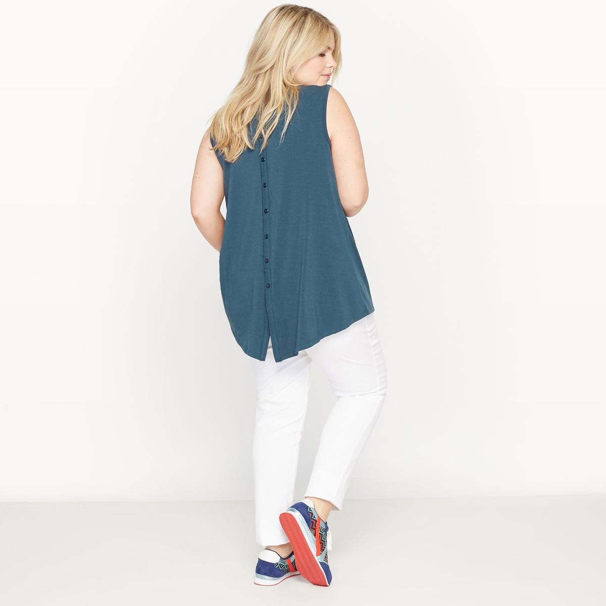 T-shirt sem mangas, costas fantasia