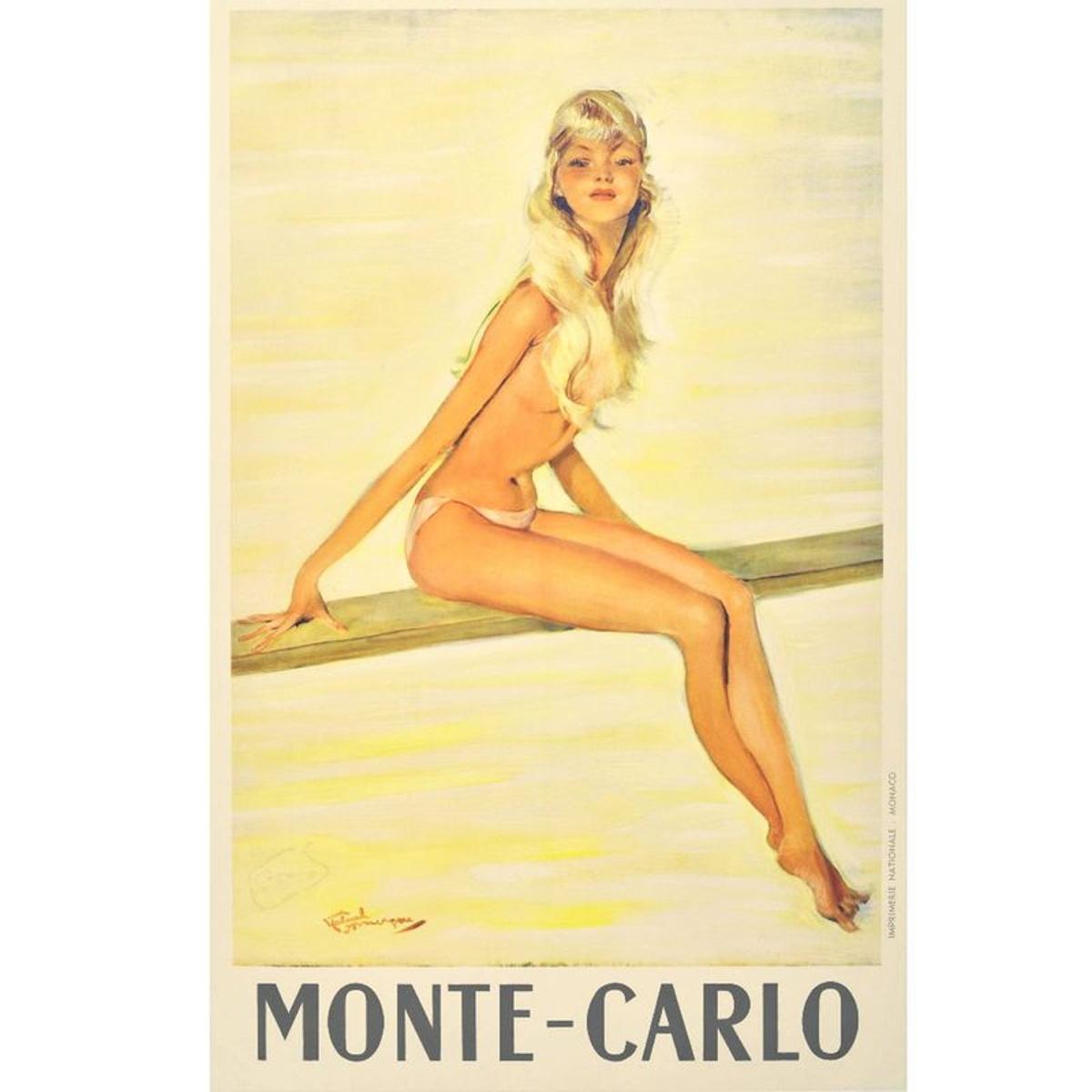 Affiche ancienne Monte Carlo