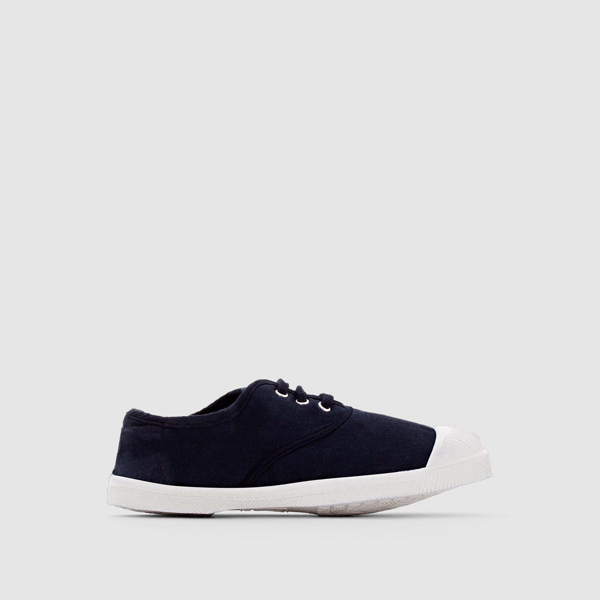 Кеды базовые на шнуровкеПреимущества : Эти низкие кеды из ткани от BENSIMON привлекают своей простотой, не выходящим из моды стилем и темно-синим цветом, который так легко сочетать в этом сезоне.<br><br>Цвет: синий морской<br>Размер: 31
