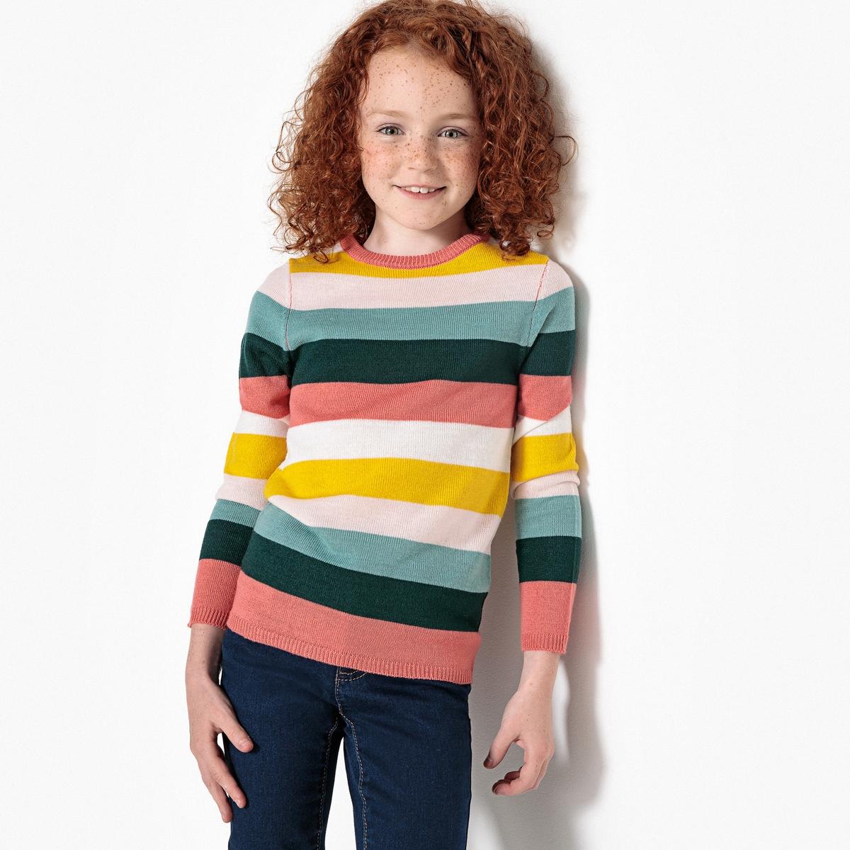 Пуловер в полоску из тонкого трикотажа, 3-12 лет junior republic junior republic
