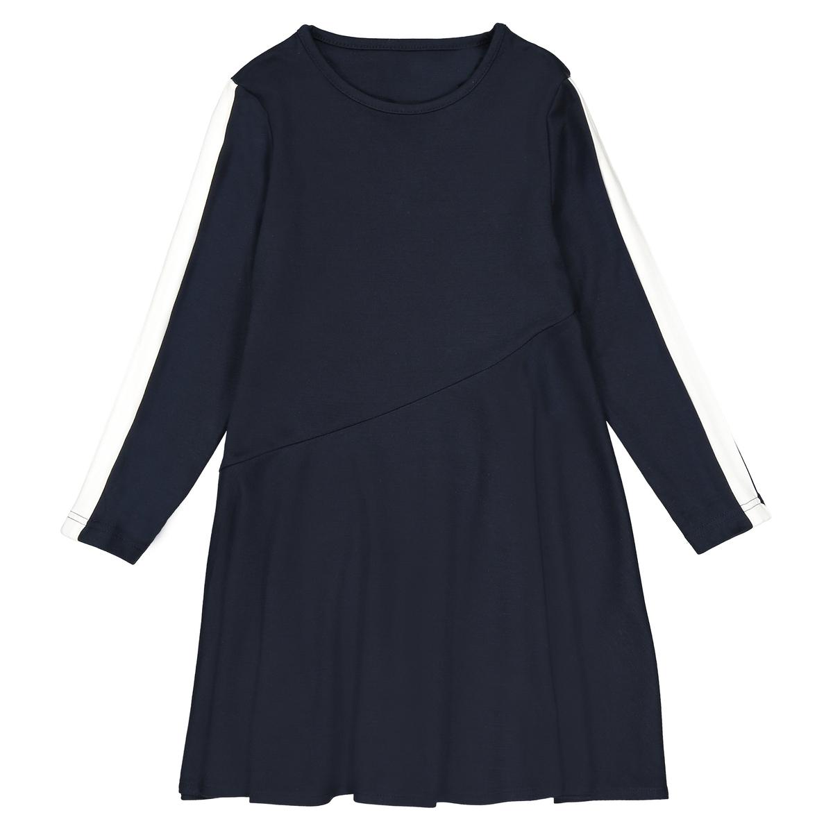Vestido em malha milano, detalhes nas mangas, 3-12 anos