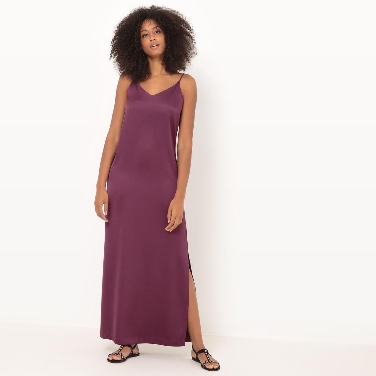 Платье длинное на тонких бретелях