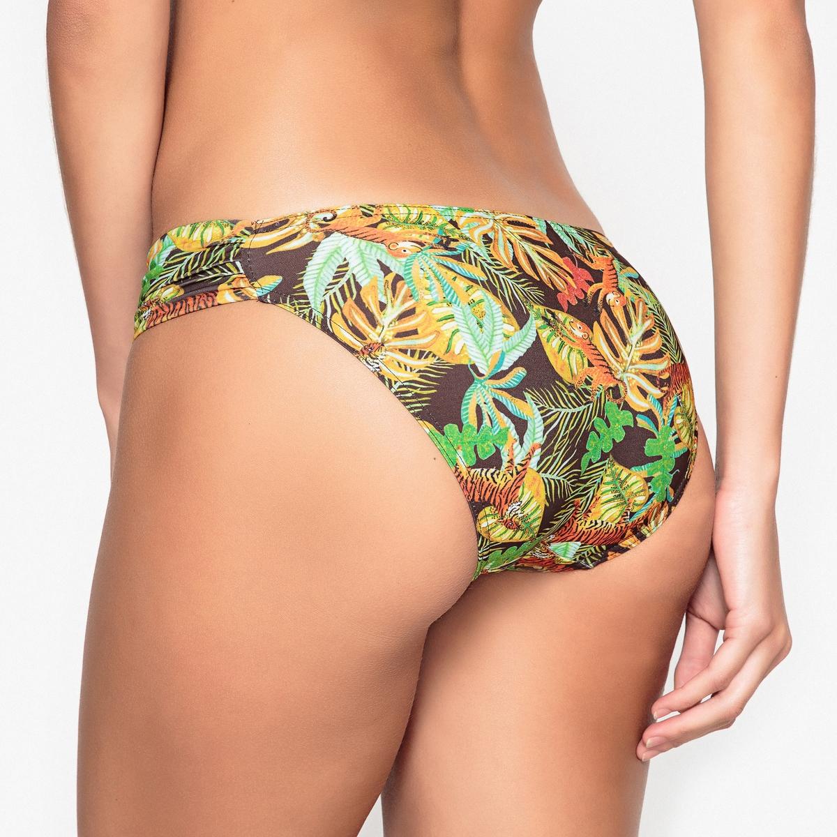 Плавки от купальника с этническим рисунком, форма бикини