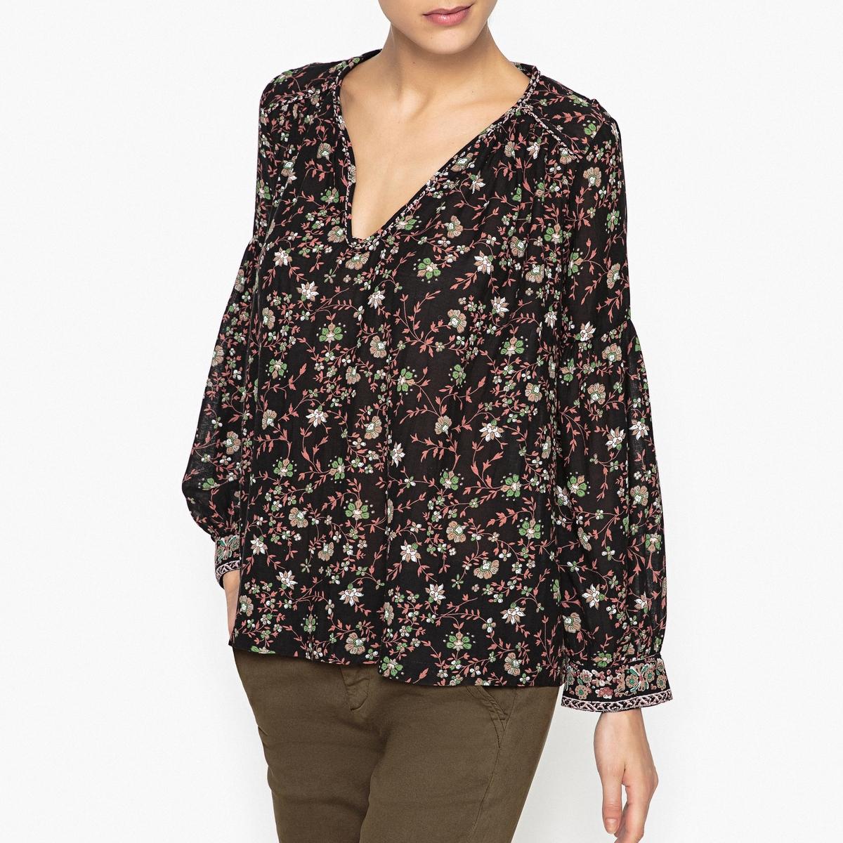 цена Блузка с рисунком FELIZ онлайн в 2017 году