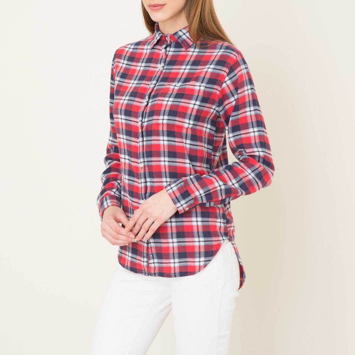 Рубашка в клеткуСостав и описание    Материал : 100% хлопок    Марка : Denim and Supply Ralph Lauren<br><br>Цвет: красный/темно-синий