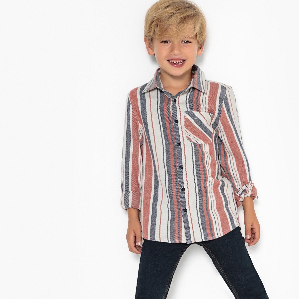 Рубашка в полоску, 3-12 лет джинсы бойфренд 3 14 лет