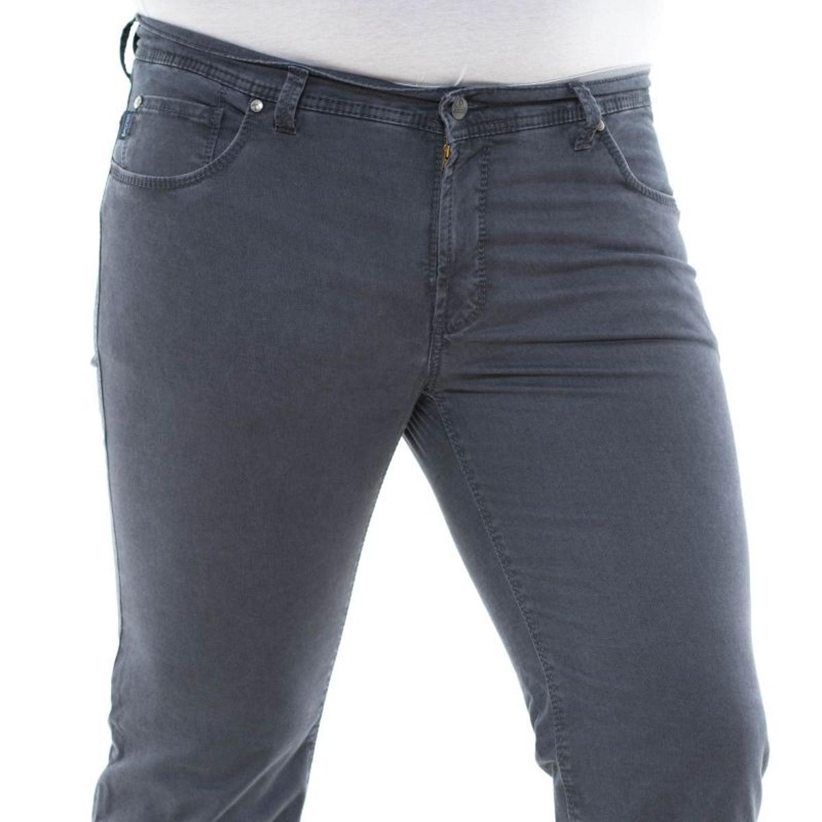 Pantalon toile thomas bleu gris